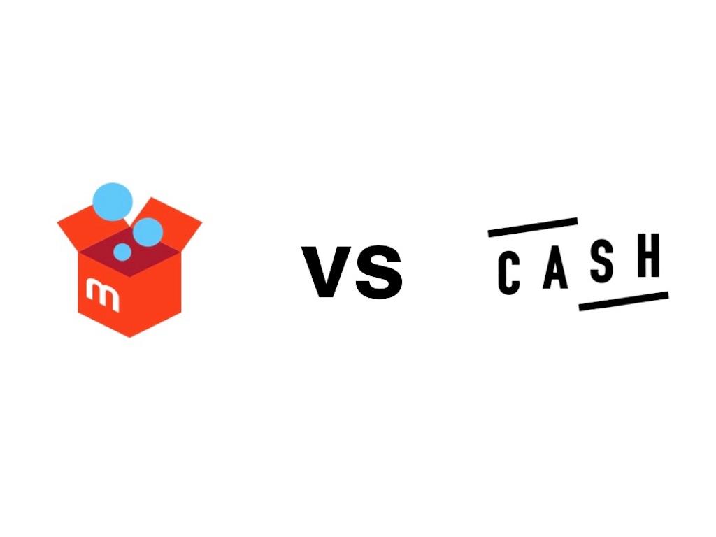 メルカリとCASHのロゴ
