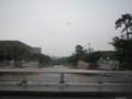 雨の芦屋川、2010/07/03、海側を向いて