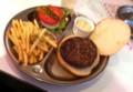 プレーンハンバーガーのランチセット