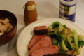 [food]チンゲン菜とエリンギのオイスターソース炒め
