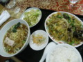 [food]玉子と豚肉と竹の子きくらげ炒めセット(長城飯店)