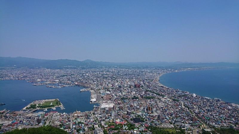 函館山から眺める函館市街