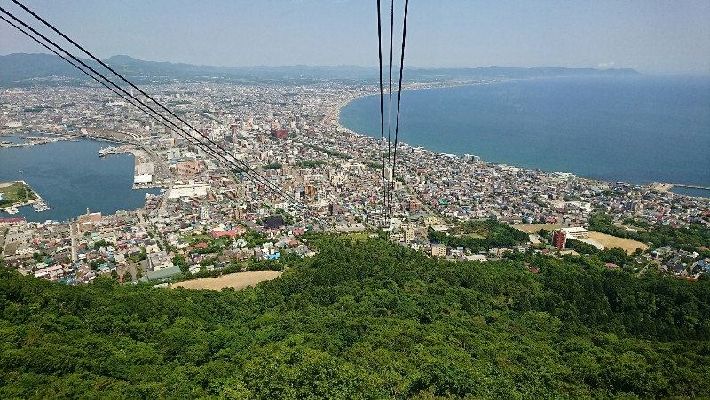 函館山ロープウェーから眺める函館市街