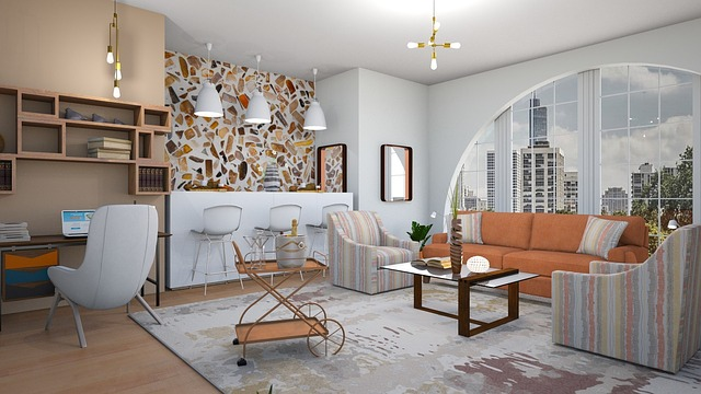 白とベージュを貴重とした綺麗で豪華な部屋