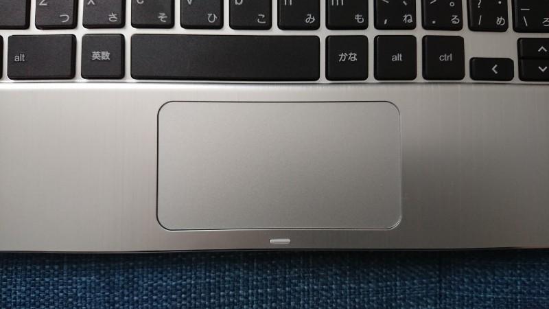 Chromebookのタッチパッド