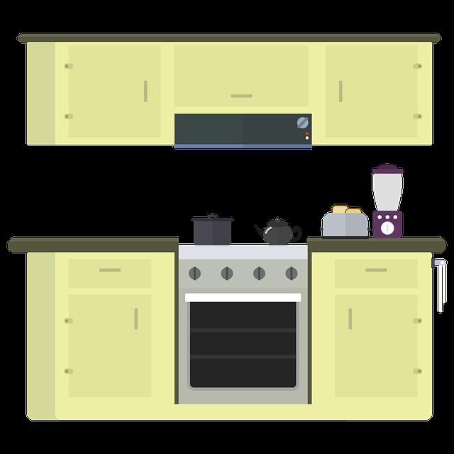 キッチンのイラスト風画像