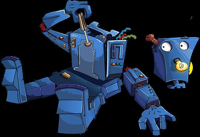 自分自身を分解しているロボット