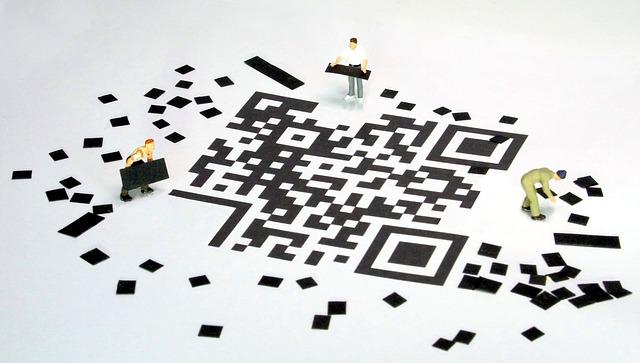 QRコードのアニメ調イラスト