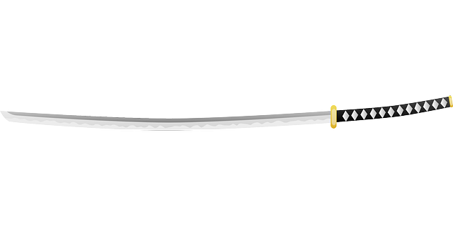 日本刀のイラスト