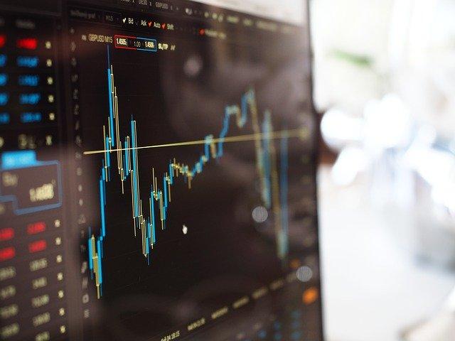株価暴落のグラフチャート