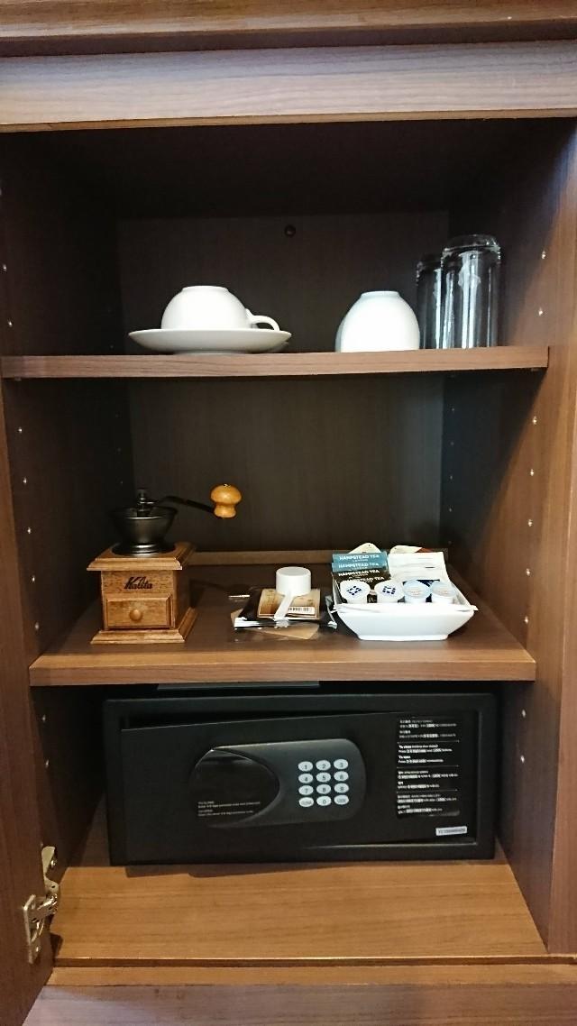 客室備品のコーヒーセット
