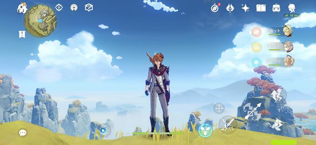 原神のゲーム画面を直にスクリーンショット撮影