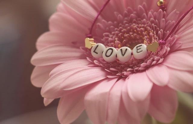 「LOVE」の文字