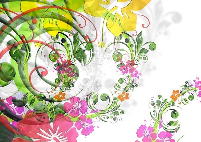 花や草の絵