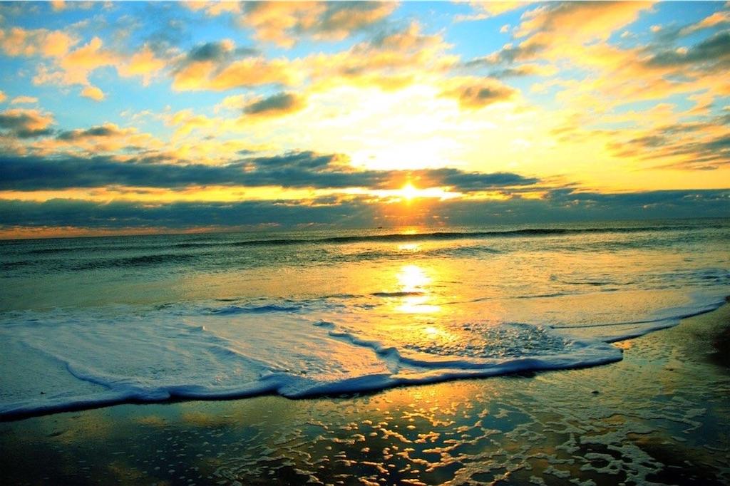 綺麗な夕方の海