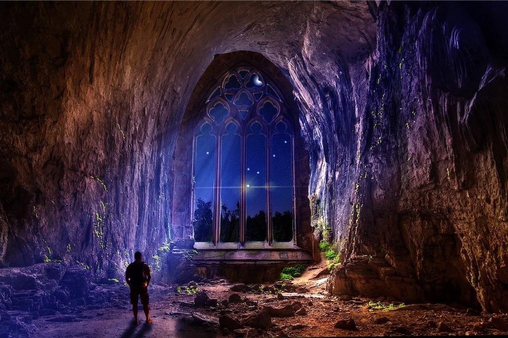 夜の自然な光