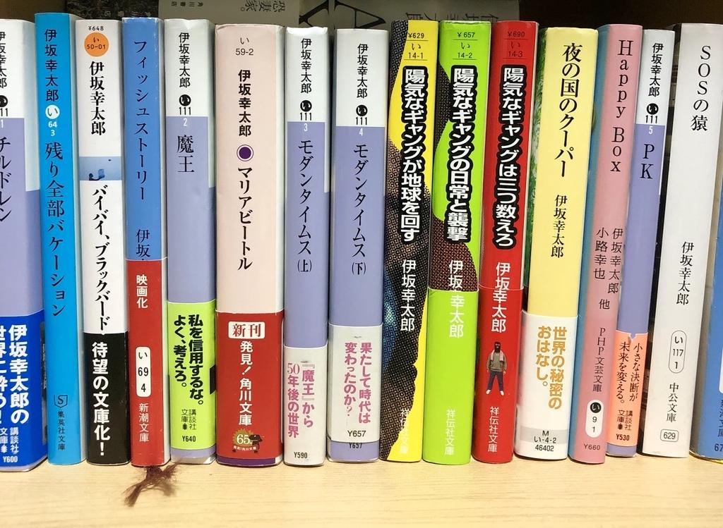 伊坂幸太郎の本です