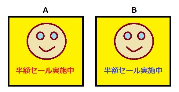 ABテストのサンプル画像