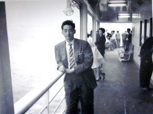 1960年くれない丸にてHiroshi
