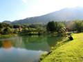 夕日の駒が池