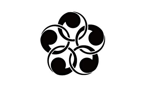 家紋【五つ金輪巴】