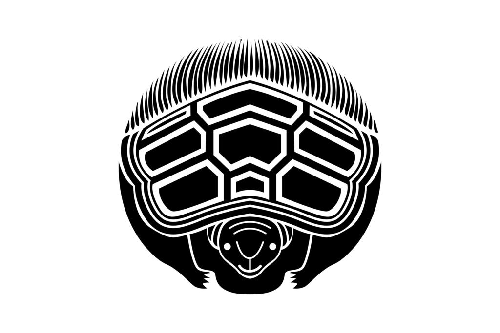 かっこいい家紋ランキング第3位 家紋【真向き亀】
