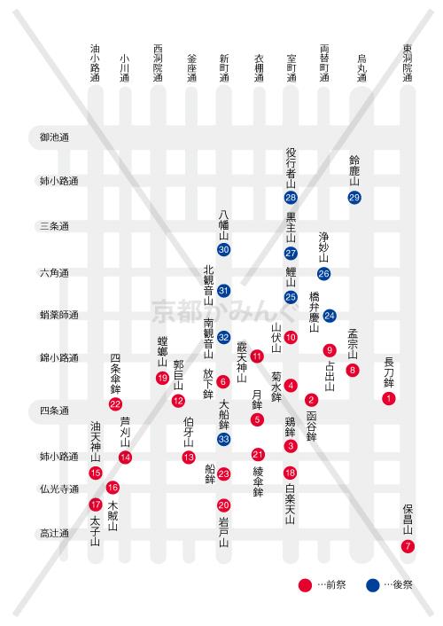 【2018年】京都かみんぐ的 祇園祭の山鉾巡りの回るおすすめの順番