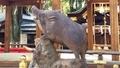 [京都][観光][いのしし神社]護王神社の狛いのしし