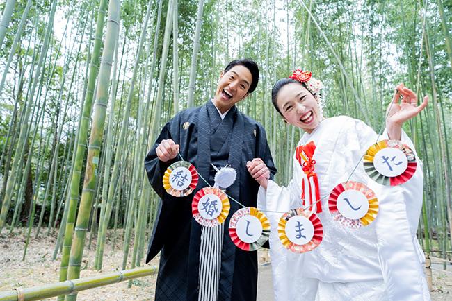 京weddingオリジナルの和装前撮りアイテム!