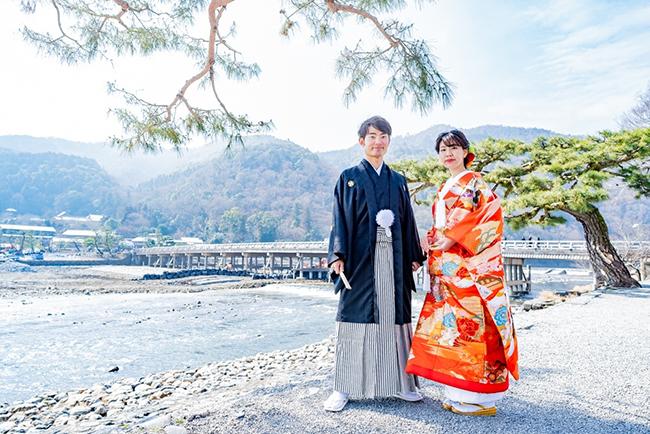 冬でも嵐山和装前撮りは大人気!