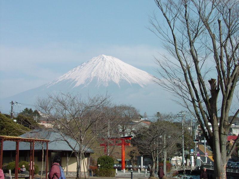 富士宮 浅間大社から眺める富士山
