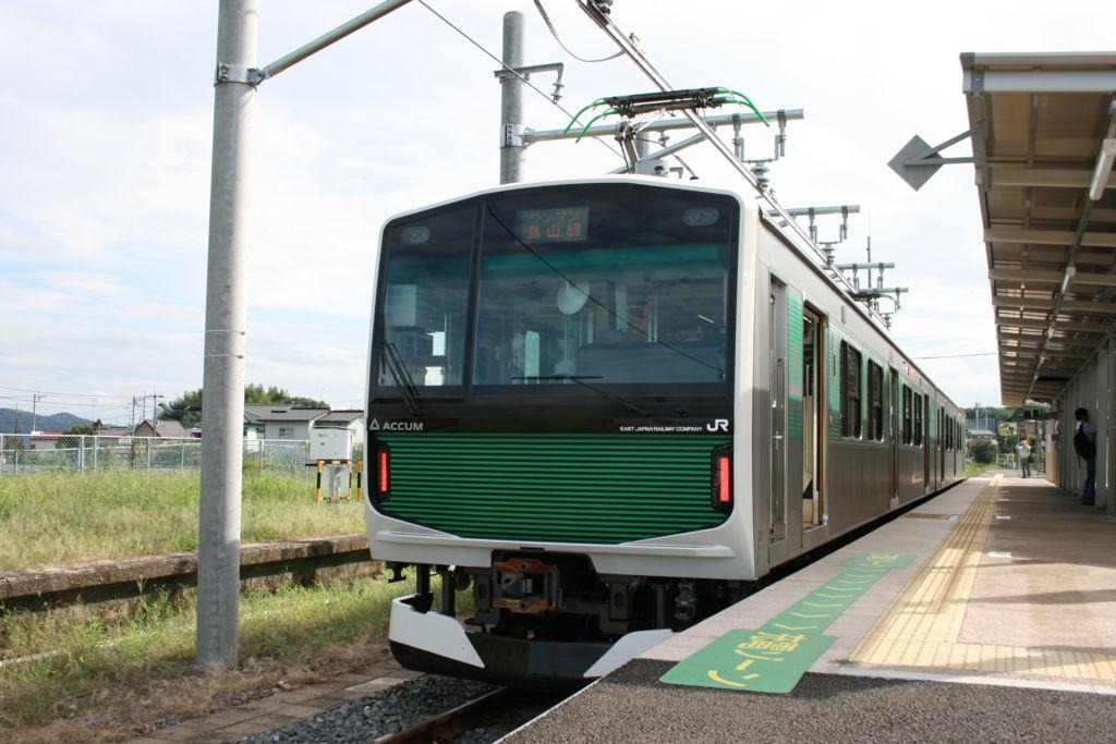 EV-E301 烏山駅での充電の様子