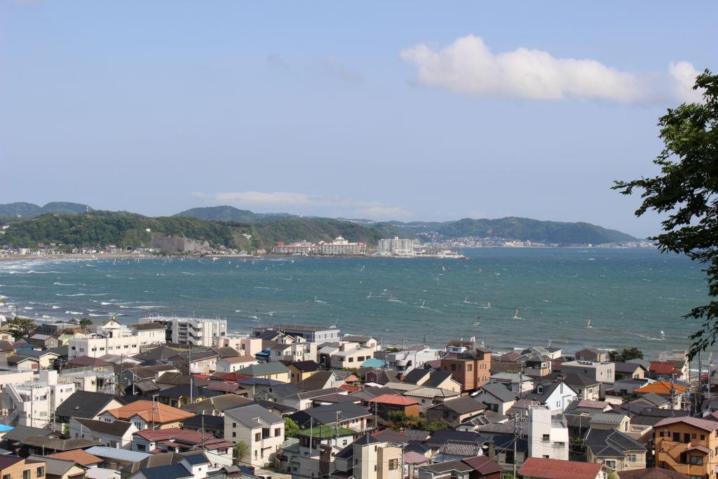 長谷寺から眺める海