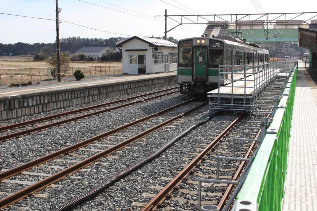 小高駅の臨時ホーム