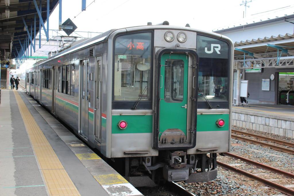小高行きの電車@原ノ町駅