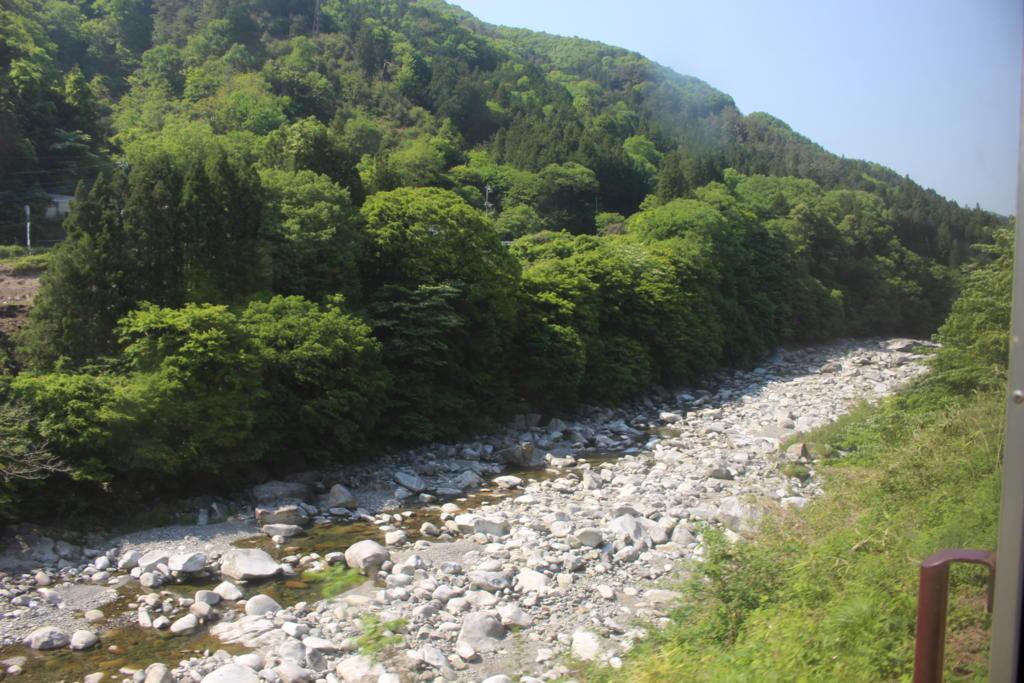 渡良瀬川の車窓