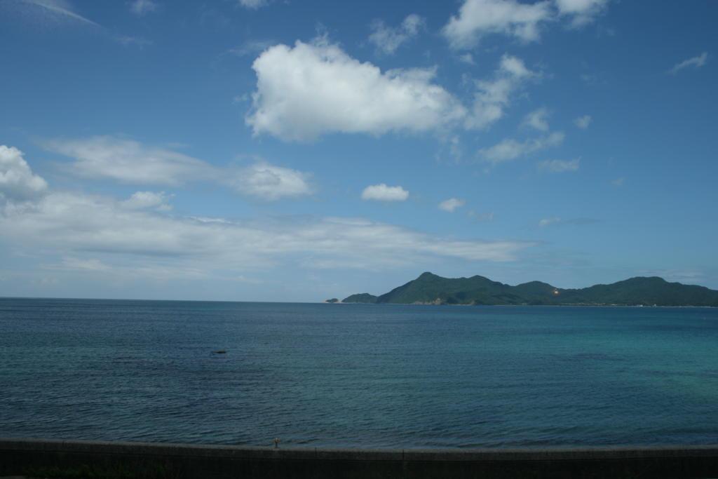 山陰本線から眺める日本海