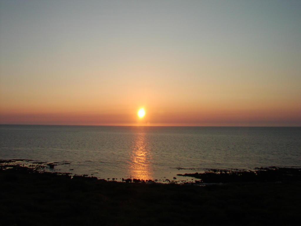 五能線から見た夕日