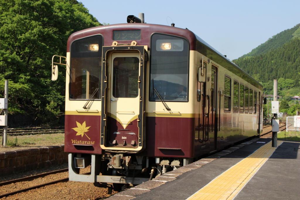 桐生行きの列車