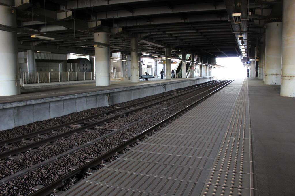 守谷駅のホーム