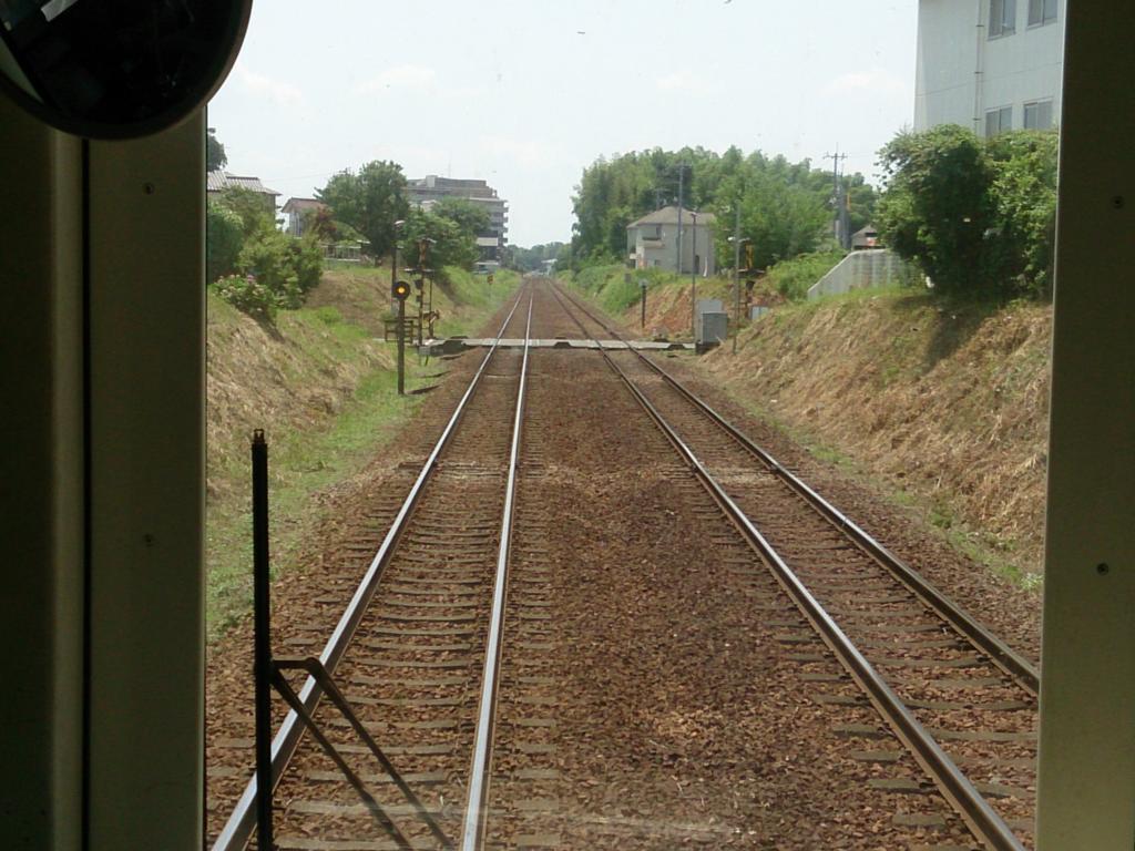 常総線の複線の線路