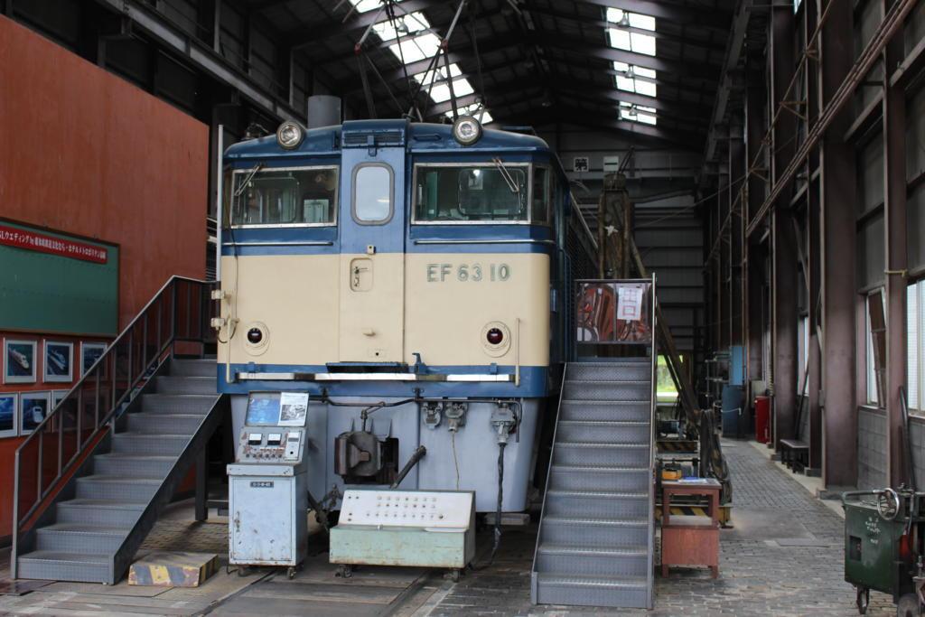 碓氷峠鉄道文化むらに展示されているEF63