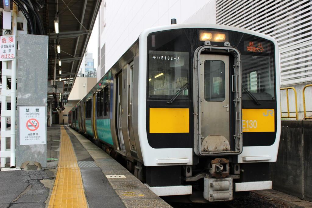 水戸駅での水郡線の気動車