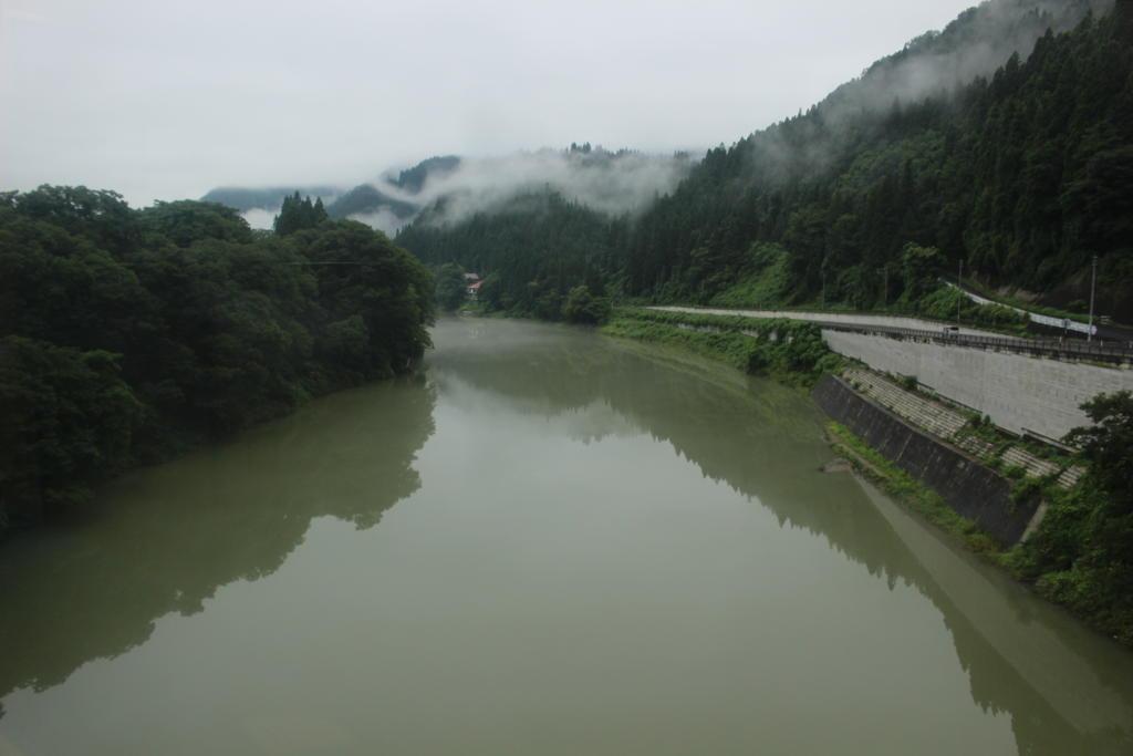 水量が豊富な只見川