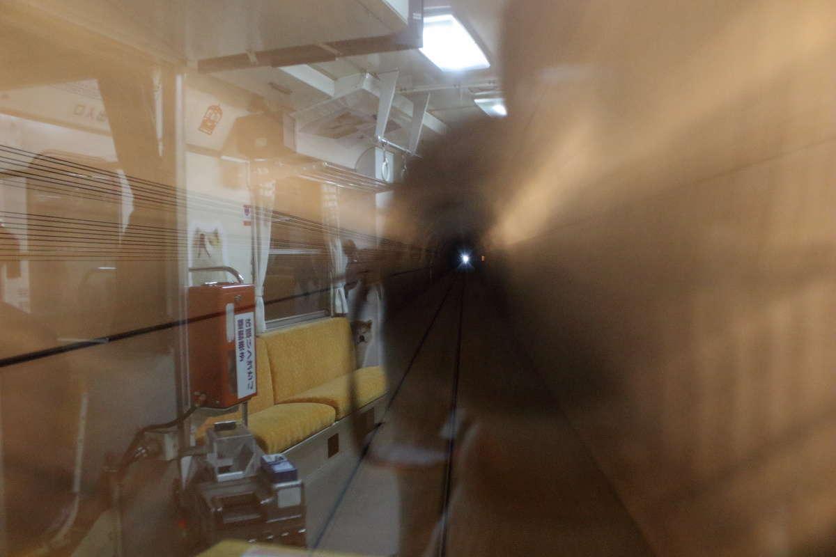 秋田内陸線の見どころの一つ「十二段トンネル」