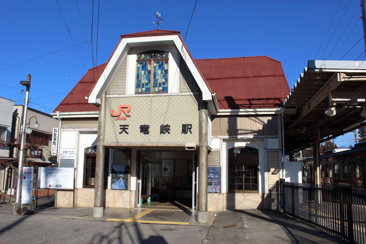 天竜峡の最寄り駅、JR飯田線の天竜峡駅