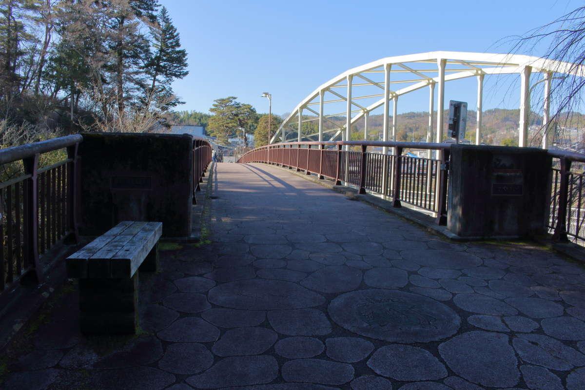 天竜川にかかる「姑射橋」