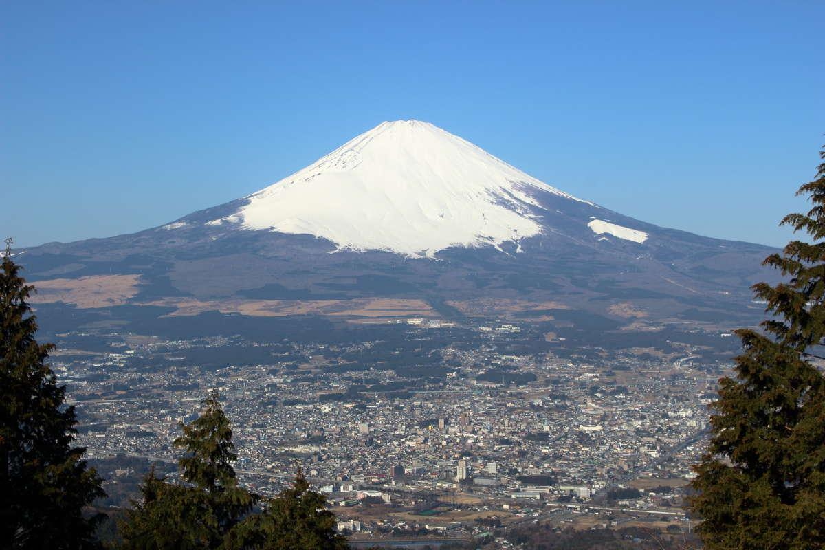 乙女峠からの富士山の絶景
