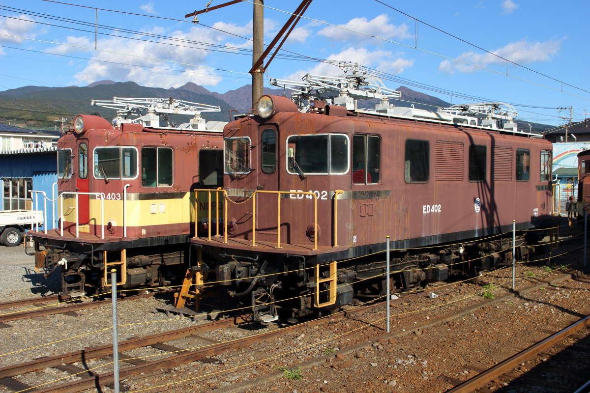 かつて横軽で活躍していたED40形電気機関車