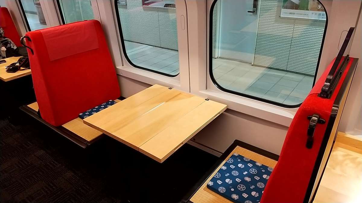 「とれいゆつばさ」のお座敷席(2名用)